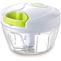 Cool-Shop?つ?Manual Food Chopper, Compact & Powerful Hand Held Vegetable Chopper / Mincer / Blender to Chop Fruits,Vegetables, Herbs, Salad, Pesto, Coleslaw, Puree by Cool-Shop