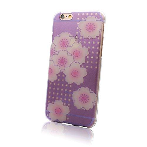 MRlab iPhone6 iPhone6sケース 紫 和柄 八重桜 ( 桜 ) ハードケース 734