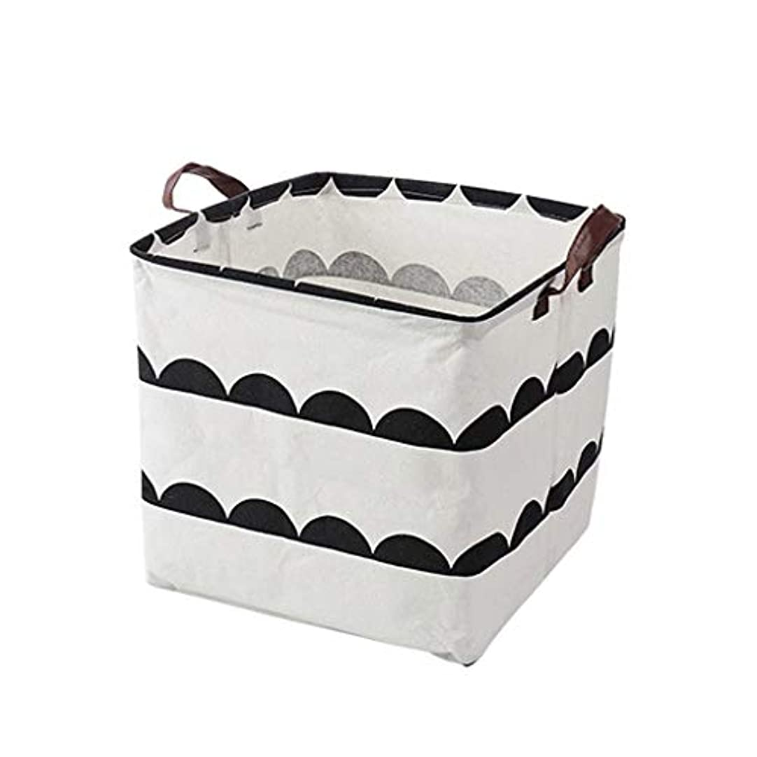 二層縫い目強風QYSZYG カバーなしの家庭用折りたたみ収納ボックス、衣服、綿、リネン、5色に配置可能 収納バスケット (色 : B)