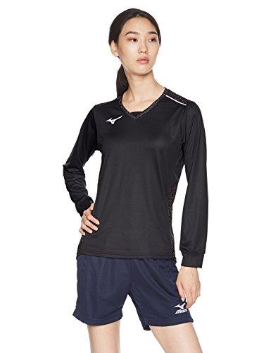 [ミズノ] バレーボールウェア プラクティスシャツ 長袖 吸汗速乾 ドライ 部活 練習 消臭 レディース V2MA8290 ブラック L