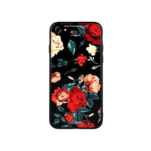 iPhone6/6s ケース 背面ガラス スマホケース クリ...