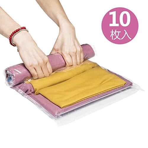 圧縮袋 衣類圧縮袋 Love-KANKEI 掃除機不要 防塵...