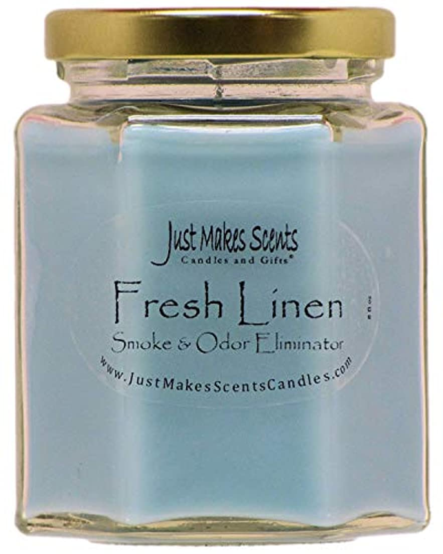 テクスチャーメッシュ海洋Just Makes Scents キャンドル&ギフトスモークペアレント Fresh Linen - Single