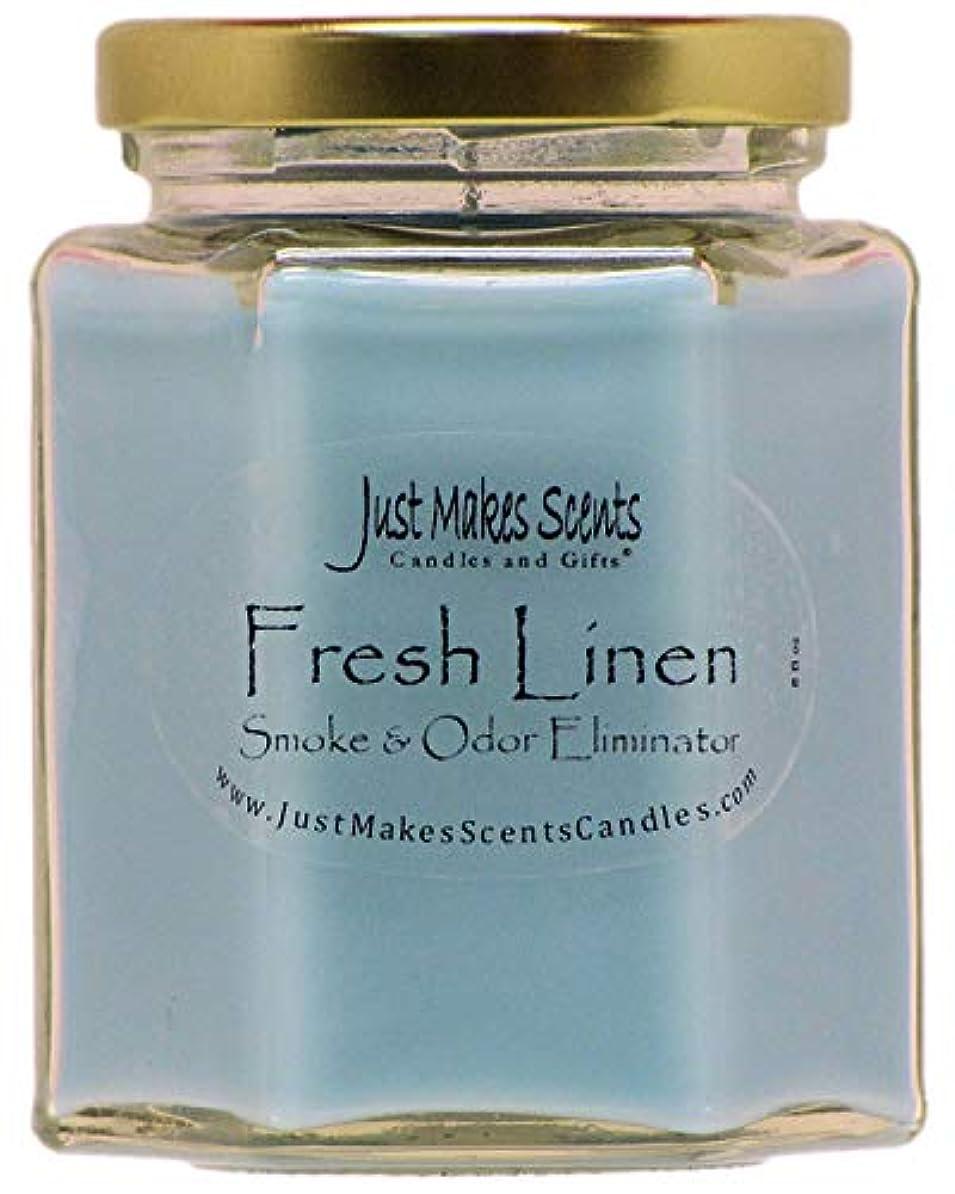 罹患率世界の窓配列Just Makes Scents キャンドル&ギフトスモークペアレント Fresh Linen - Single