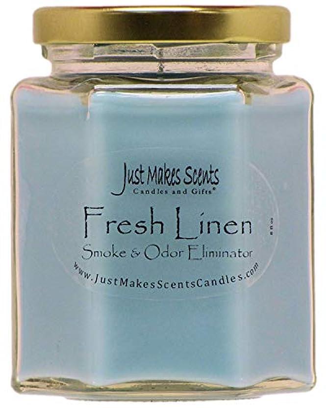 電気的栄光の正確さJust Makes Scents キャンドル&ギフトスモークペアレント Fresh Linen - Single