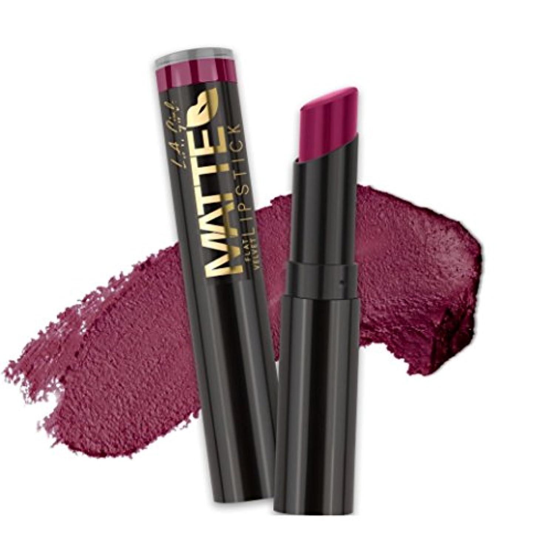 舗装民間人ルームL.A. GIRL Matte Flat Velvet Lipstick - Va Voom! (並行輸入品)