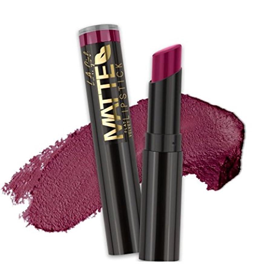 ぴかぴか束ねる謙虚なL.A. GIRL Matte Flat Velvet Lipstick - Va Voom! (並行輸入品)