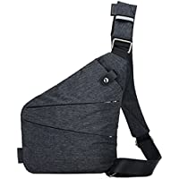 Rullar Mens Multipurpose Anti-theft Sling Bags Chest Shoulder Crossbody Messenger Business Travel Hiking School Small Daypack Purse Backpack
