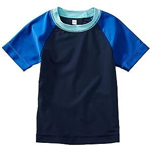[ティコレクション]子供服 キッズ 半袖 ラッシュガード 水着 男の子 ボーイズ インポート UPF40+ ラグラン ボーイズ ネイビー US 8T(8~9歳):日本サイズ約135~145cm (日本サイズ140 相当)