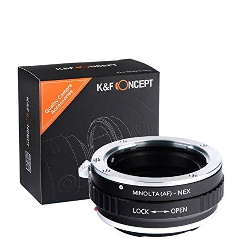 K&F Concept® マウントアダプター Minolta(AF)-NEX ミノルタMinolta(AF)マウントレンズ- Sony NEX Eマウントカメラボディ対応レンズアダプターリング Sony NEX-3 NEX-3C NEX-5 NEX-5C NEX-5N NEX-5R NEX-6 NEX-7 NEX-VG10カメラなど対応 マウント変換アダプター 高精度
