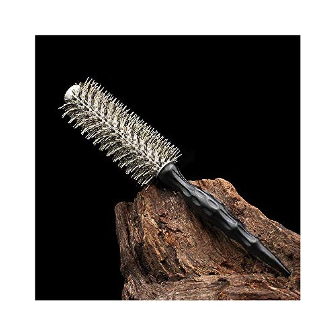 袋層描写WASAIO ヘアブラシカーリーヘアコームヘアサロンデザインローリングコーム用帯電防止ヘアブラシ (サイズ : L)