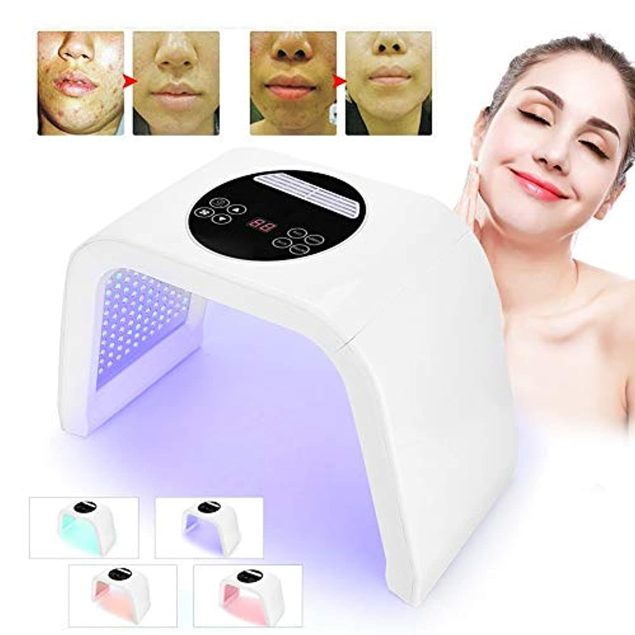 者シンプトンマニフェストスキンケア装置の美の光線力学的なランプ、4色は保護療法のマスクが付いている軽い療法の顔のスキンケア機械、アクネの減少/皮の若返りのためのPDTの技術を導きました(100-240V)