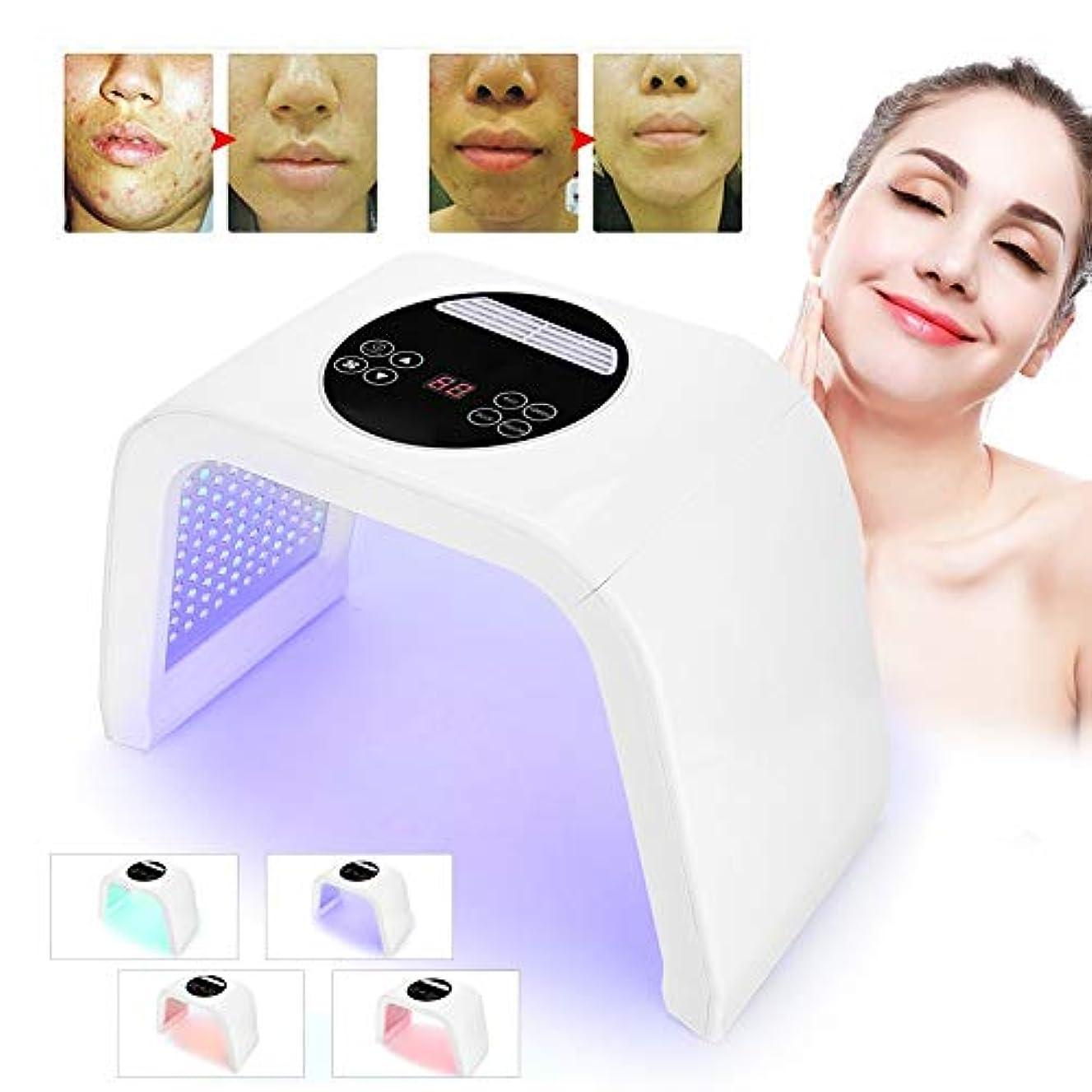 愚かなかき混ぜるクリークスキンケア装置の美の光線力学的なランプ、4色は保護療法のマスクが付いている軽い療法の顔のスキンケア機械、アクネの減少/皮の若返りのためのPDTの技術を導きました(100-240V)