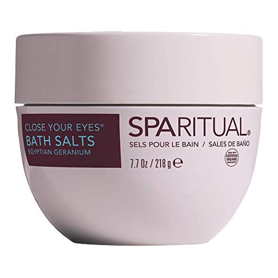 すべて月曜部分SPARITUAL(スパリチュアル) クローズ ユア アイズ オーガニック バスソルト 218g (ゼラニウムの香り)