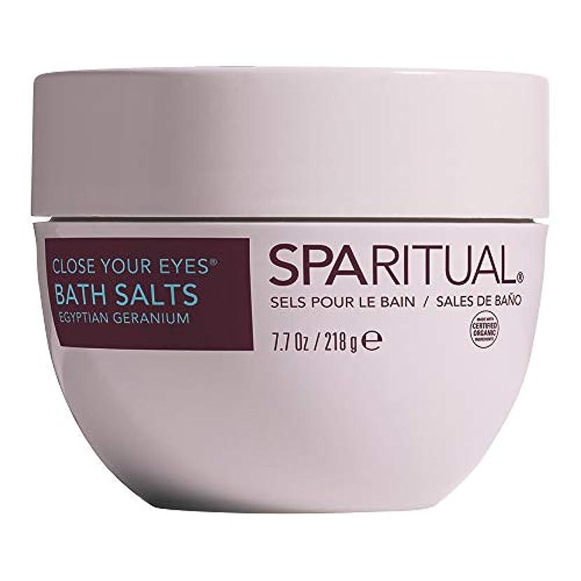 経験的瞑想する最高SPARITUAL(スパリチュアル) クローズ ユア アイズ オーガニック バスソルト 218g (ゼラニウムの香り)