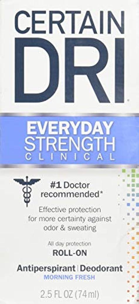 映画洗練不公平Certain DRI AM Antiperspirant/ Deodorant Morning Fresh Scent Roll-on, 2.5 oz Per Pack (2 Packs) by Certain Dri