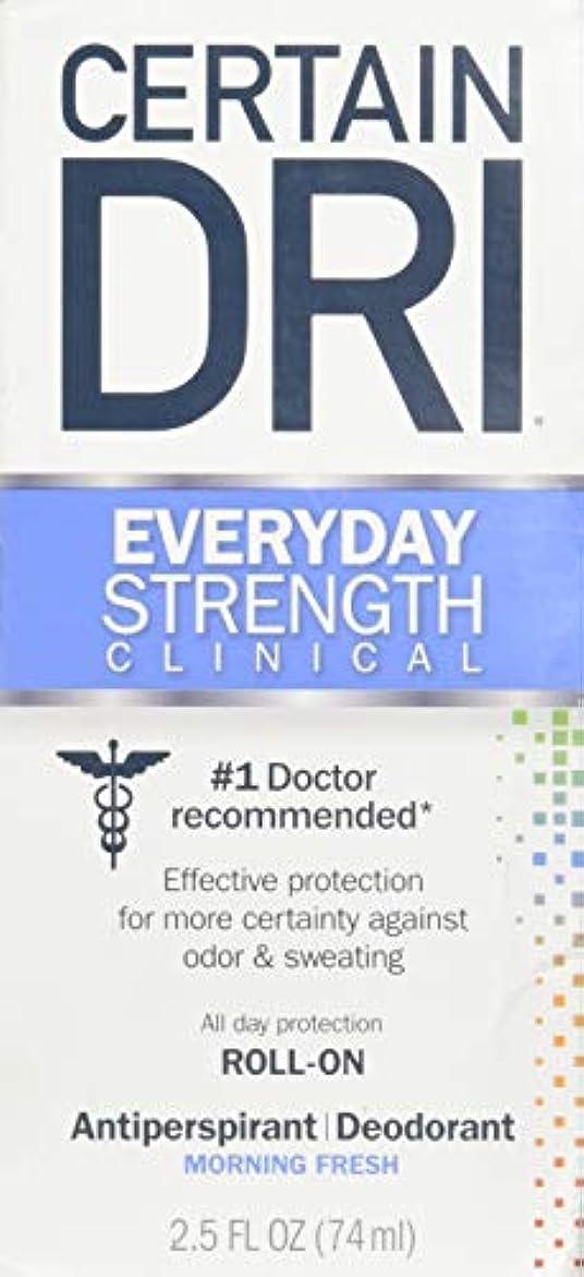 モナリザ監査感謝Certain DRI AM Antiperspirant/ Deodorant Morning Fresh Scent Roll-on, 2.5 oz Per Pack (2 Packs) by Certain Dri