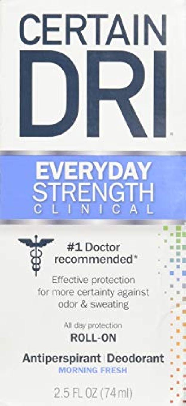 ビーチ保証金コンサートCertain DRI AM Antiperspirant/ Deodorant Morning Fresh Scent Roll-on, 2.5 oz Per Pack (2 Packs) by Certain Dri