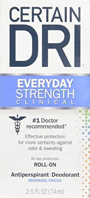 サッカー社会年金Certain DRI AM Antiperspirant/ Deodorant Morning Fresh Scent Roll-on, 2.5 oz Per Pack (2 Packs) by Certain Dri