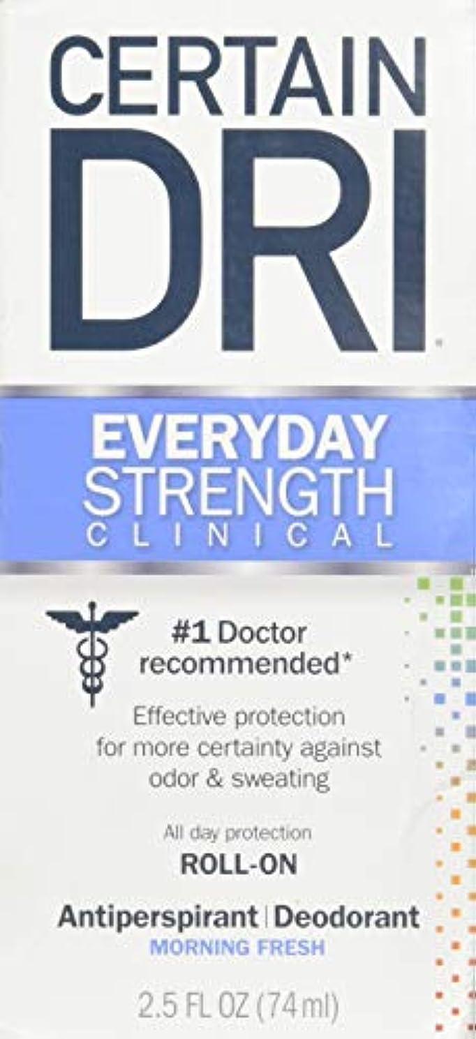 ダニフィールドみぞれCertain DRI AM Antiperspirant/ Deodorant Morning Fresh Scent Roll-on, 2.5 oz Per Pack (2 Packs) by Certain Dri