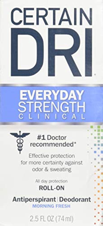 Certain DRI AM Antiperspirant/ Deodorant Morning Fresh Scent Roll-on, 2.5 oz Per Pack (2 Packs) by Certain Dri