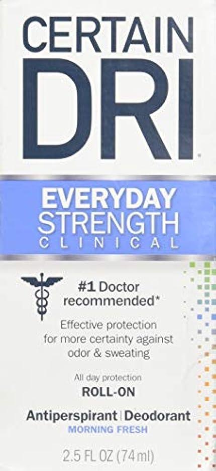 ハブ豊富に周術期Certain DRI AM Antiperspirant/ Deodorant Morning Fresh Scent Roll-on, 2.5 oz Per Pack (2 Packs) by Certain Dri