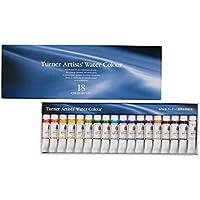 ターナー色彩 専門家用透明水彩絵具 18色セット WT00518C 5ml