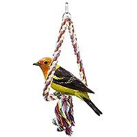 Demiawaking ペット用品 噛む玩具 ストレス解消 インコ 鳥 おもちゃ オウム 吊下げタイプ玩具・ブランコ