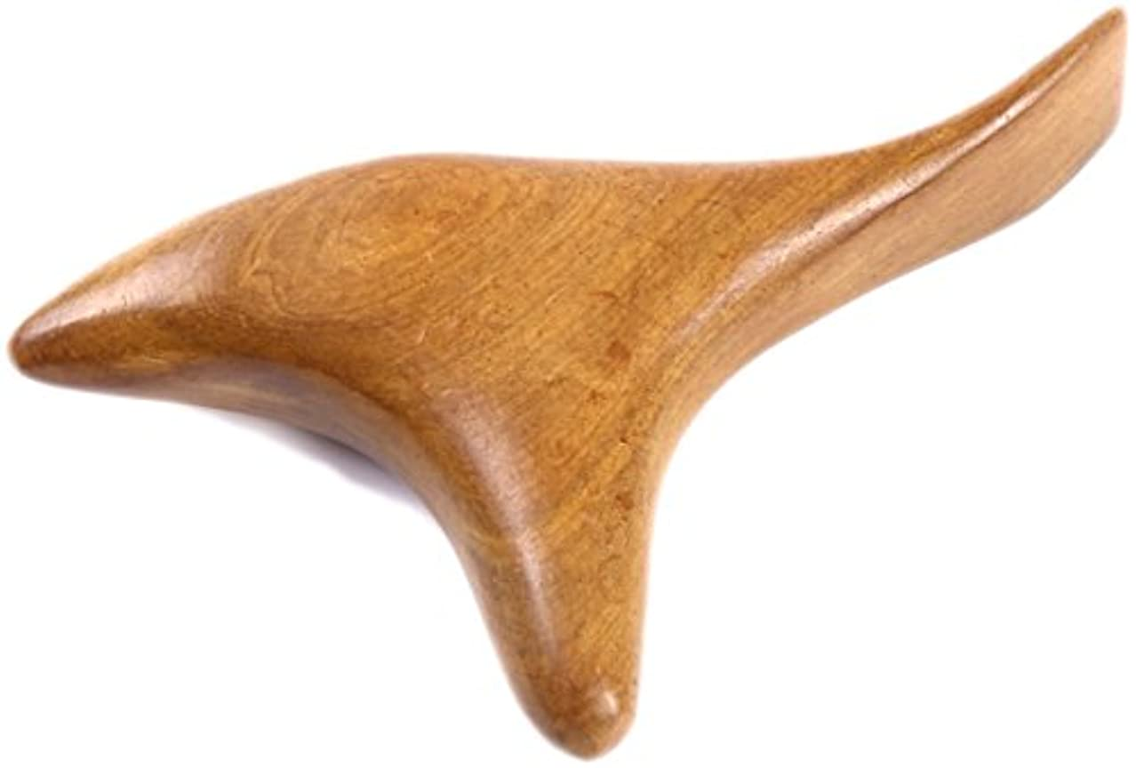 勝つれんが介入するwumio ツボ押し棒 持ちやすく押しやすい特殊な形の天然木マッサージ棒 足裏?足ツボを女性でも強く指圧?カーブがフィットする絶妙なツボ押しグッズ 自分でも夫婦でも 不思議な一本