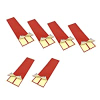 SM SunniMix 6個 長持ち 矢印ステッカー アローラップ アーチェリーアクセサリー 全5色 - 赤