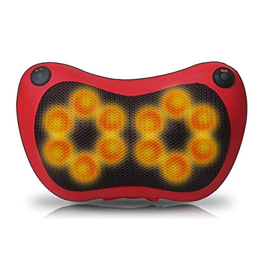 光電軽蔑暗唱する本物のマッサージ枕、頸椎、電動首、腰、肩のマッサージャー、多機能の車載用クッション