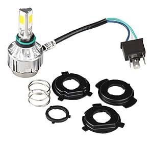 N'sアーリアネット バイクライト LEDヘッドライト H4 2000ルーメン 6V~36V対応 3面発光 Hi/Lo切り替え型  冷却ファン内蔵360 オートバイ 二輪用