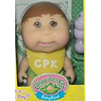Cabbage Patch Kids Mini人形ブラウンHair & eyes-removeおむつカバーto RevealブルーまたはピンクBlanket