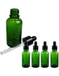 Sunlitous スポイト付き遮光瓶 香水 アロマ 化粧水 小分け 保存用 30ml 5本セット (グリーン)