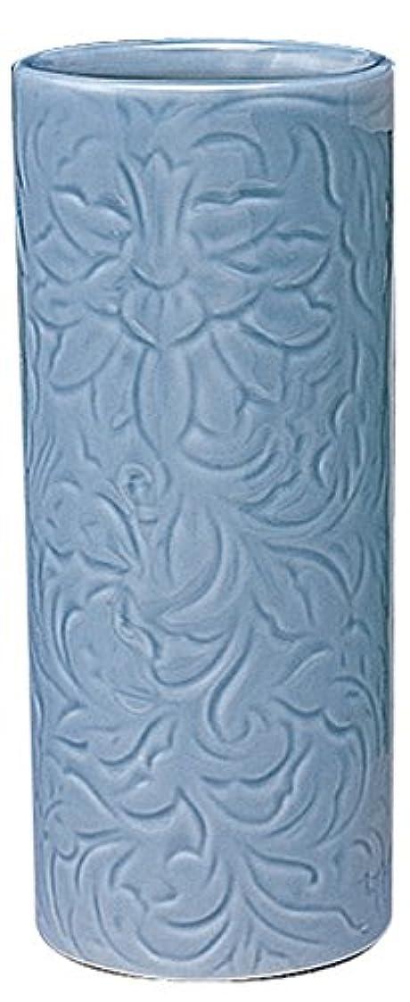 入浴カエルカレンダーマルエス 御仏具 青磁唐草投入花瓶 7.0寸 ブルー