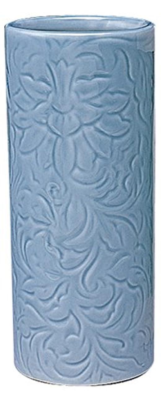 非効率的なまともな引き算マルエス 御仏具 青磁唐草投入花瓶 7.0寸 ブルー