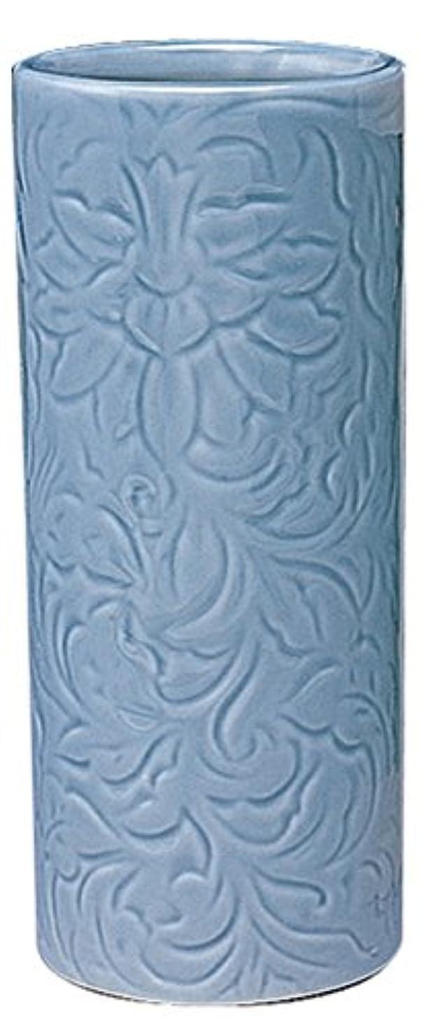 隠す音節クリープマルエス 御仏具 青磁唐草投入花瓶 7.0寸 ブルー