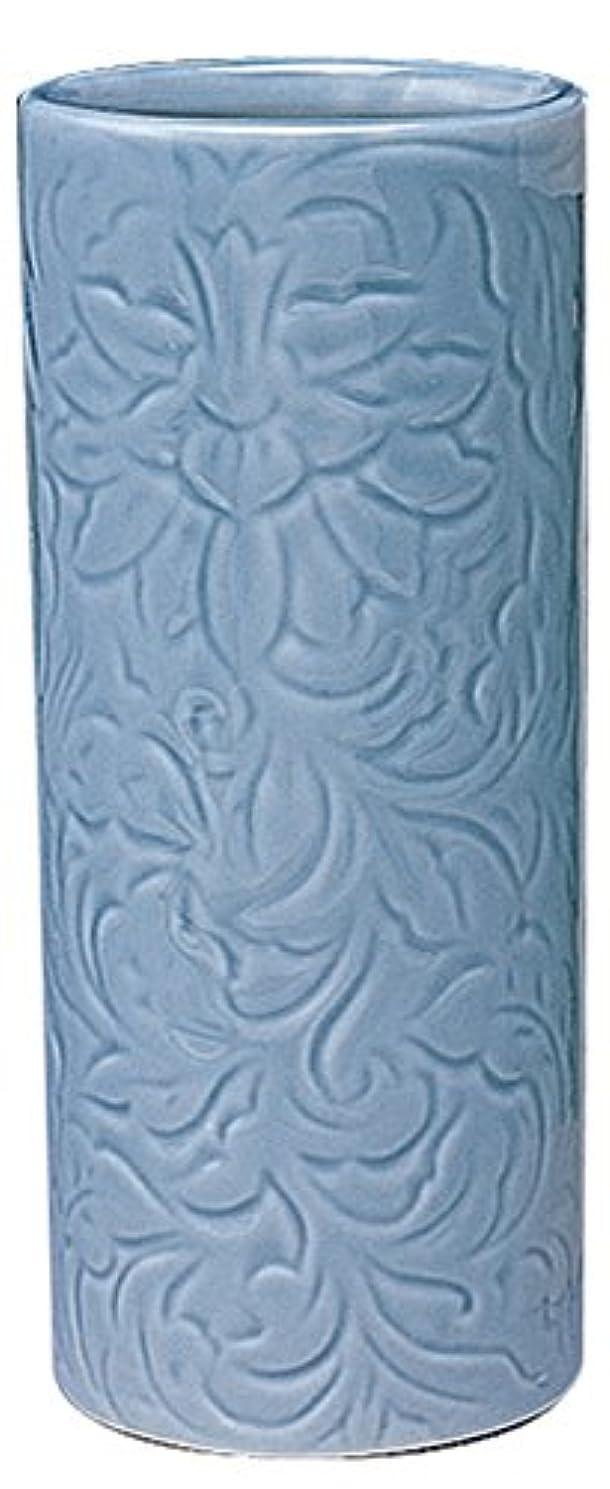 補足真空バックアップマルエス 御仏具 青磁唐草投入花瓶 7.0寸 ブルー