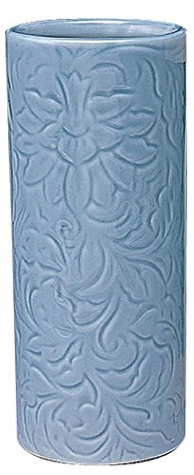 抽象化識別する拾うマルエス 御仏具 青磁唐草投入花瓶 7.0寸 ブルー