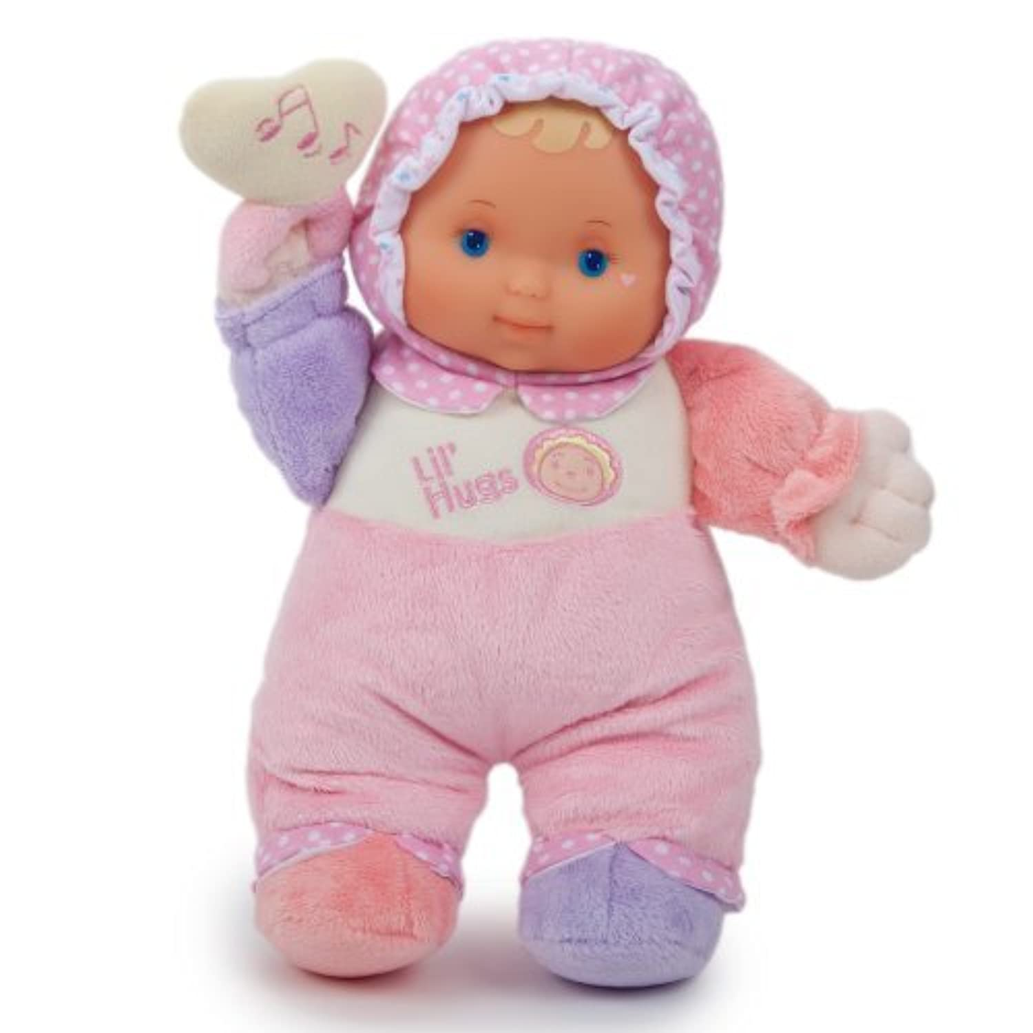 JC Toys Lil' Hugs Pink Soft Body - Your First Baby Doll - Designed by Berenguer - Ages 0+ by JC Toys