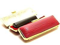 「天然黒水牛印鑑10.5mm×60mmクッキーレッドケース付き」 横彫り 吉相体