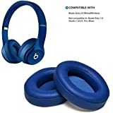 Oenbopo 1Pair Memory Foam Ear Cover Ear Cushion Replacement Ear Pads On-Ear Headphone Ear Cups for Beats Solo 2.0 (Color : Blue)