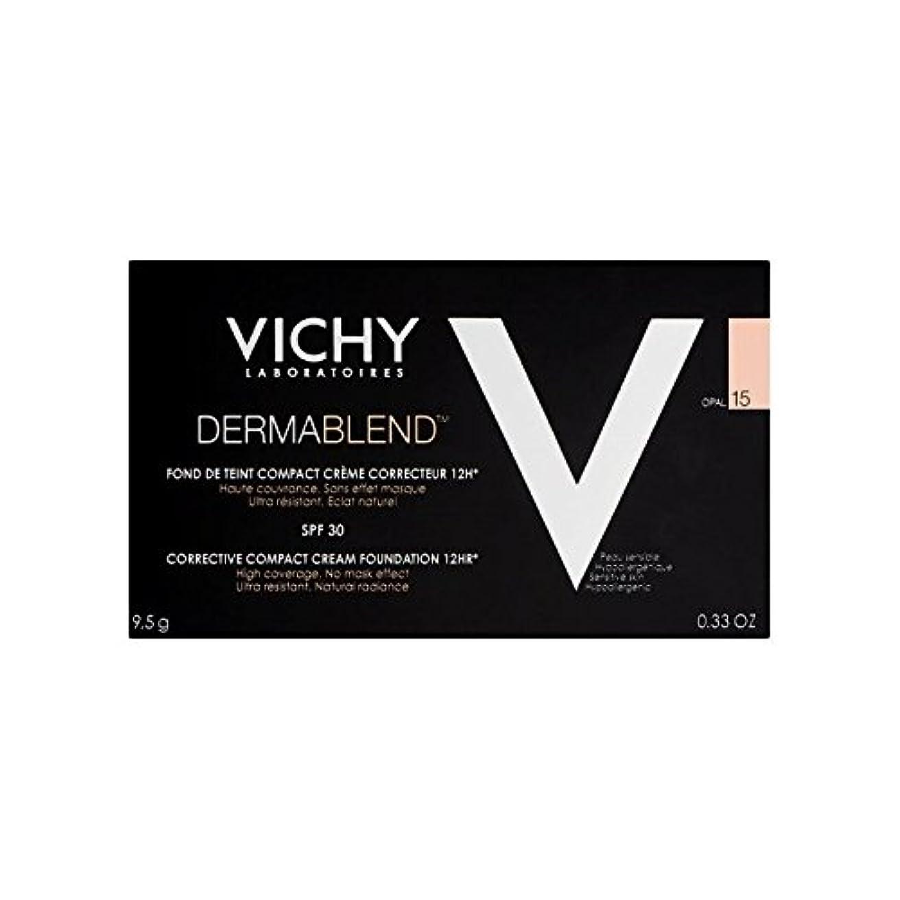 離すワードローブガムヴィシー是正コンパクトクリームファンデーションオパール15 x2 - Vichy Dermablend Corrective Compact Cream Foundation Opal 15 (Pack of 2) [並行輸入品]