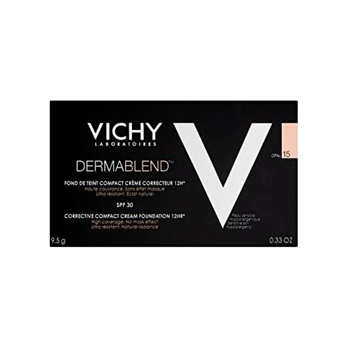 幻想的サイレント違反ヴィシー是正コンパクトクリームファンデーションオパール15 x2 - Vichy Dermablend Corrective Compact Cream Foundation Opal 15 (Pack of 2) [並行輸入品]