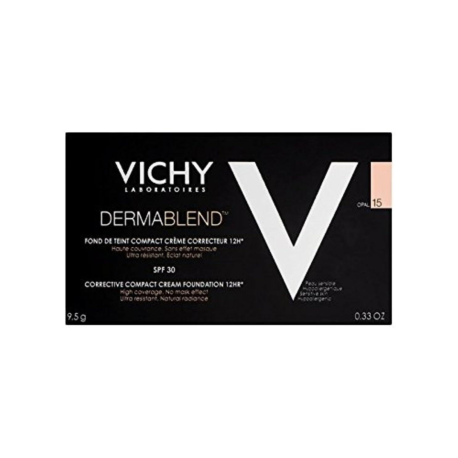 マット部族系統的ヴィシー是正コンパクトクリームファンデーションオパール15 x4 - Vichy Dermablend Corrective Compact Cream Foundation Opal 15 (Pack of 4) [並行輸入品]