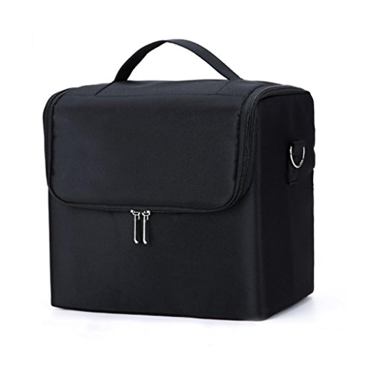 まあ軽減増強ポータブルファブリックメークアップケースプロフェッショナル化粧ケース多機能ブラシネイルメイクアップアーティストストレージバッグ