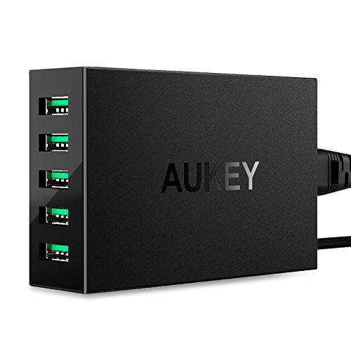 AUKEY USB充電器 ACアダプター 5ポート 50W/10A 携帯急速...