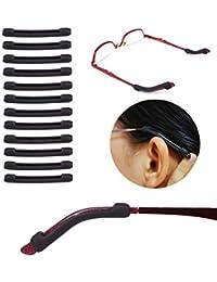 YR メガネロック 軟質シリコーン 柔らか 弾性 滑り止め めがね固定 すり落ち防止 耳が痛くない サングラス 老眼鏡 眼鏡アクセサリー 6セット