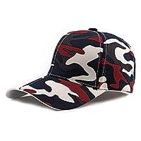 帽子 ユニセックス迷彩野球帽綿ミリタリーシェード調節可能なピークキャップ迷彩プリント6パネル日帽子 ファッション 小物 (Color : 2, Size : Free size)