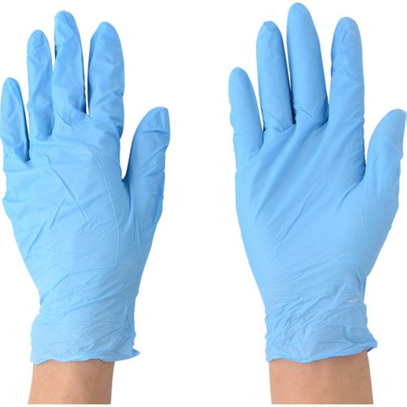 サイクロプス理論肉腫川西工業 ニトリル 極薄手袋 粉付 100枚入 #2043 ブルー SS